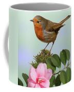 Robin And Camellia Flower Coffee Mug
