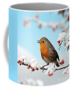 Robin And Cotoneaster With Snow Coffee Mug