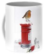 Robin And Postbox Coffee Mug