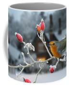 Robin And Rose Hips Coffee Mug