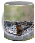 Robin In Bird Bath New Jersey  Coffee Mug