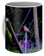 Robin On The Wires Coffee Mug
