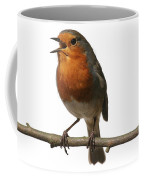 Robin Singing On Branch Coffee Mug