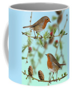 Robins On Larch Coffee Mug