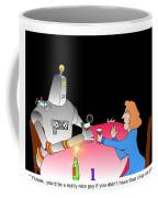 Robot Dining Cartoon Coffee Mug