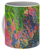 Rock And Shrub Abstract Bright Coffee Mug