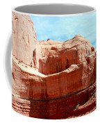 Rock Formation Of Red Sandstone Arches National Park Coffee Mug