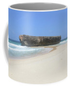 Rock Formation On The Secluded Beach In Aruba Coffee Mug