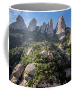 Rock Formations Montserrat Spain Coffee Mug