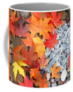Rock Garden Autumn Leaves Coffee Mug
