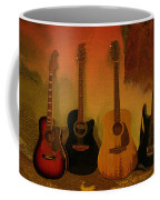Rock N Roll Guitars Coffee Mug