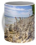 Rock Structures On Lake Michigan Coffee Mug