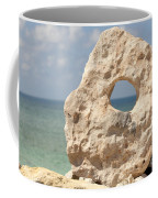 Rock With A Hole With A Tropical Ocean In The Background. Coffee Mug