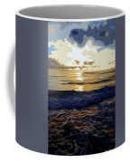Rockaway Sunset #3 Enhanced #2 Coffee Mug