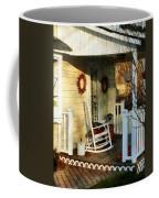 Rocking Chair On Side Porch Coffee Mug