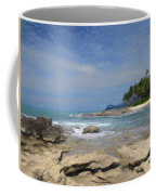 Rocks Trees And Ocean Coffee Mug