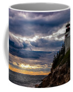 Rocky Cliffs Below Maine Lighthouse Coffee Mug