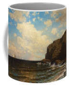 Rocky Coast With Breaking Waves Coffee Mug