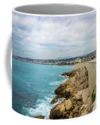 Rocky Coastline In Nice, France Coffee Mug