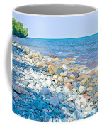 Rocky Lake Superior Shoreline Near North Country Trail In Pictured Rocks National Lakeshore-michigan Coffee Mug