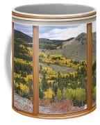 Rocky Mountain Autumn Picture Window View Coffee Mug