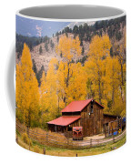 Rocky Mountain Autumn Ranch Landscape Coffee Mug