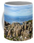 Rocky Mountain Summit Overlooking Beautiful Vally Coffee Mug