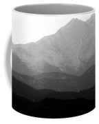 Rocky Mountain Twin Peaks Bw Coffee Mug