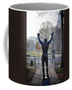 Rocky Statue From The Back Coffee Mug