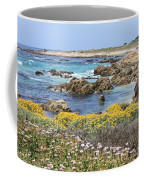 Rocky Surf With Wildflowers Coffee Mug