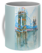 Roebling On The Ohio River Coffee Mug