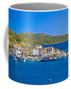 Rogoznica Harbor And Waterfront View Coffee Mug