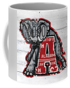 Roll Tide Alabama Crimson Tide Recycled State License Plate Art Coffee Mug