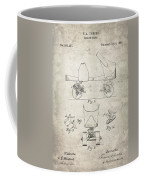 Roller Skate Patent - Patent Drawing For The 1882 F. A. Combes Roller Skate Coffee Mug