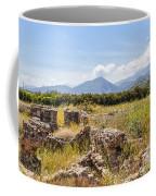 Roman Villa Ruins At Makry Gialos Coffee Mug
