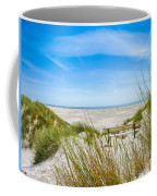 Romantic Bench In The Dunes Overlooking The German North Sea Coffee Mug
