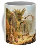 Romantic Garden Scene Coffee Mug by Hubert Robert