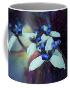Romantic Island Lilies In Blues Coffee Mug