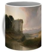 Romantic Landscape With A Temple Coffee Mug
