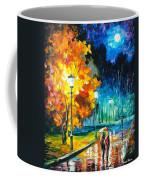 Romantic Night 2 - Palette Knife Oil Painting On Canvas By Leonid Afremov Coffee Mug