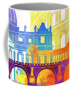 Rome Landmarks Watercolor Poster Coffee Mug