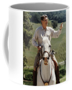 Ronald Reagan On Horseback  Coffee Mug