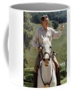 Ronald Reagan On Horseback  Coffee Mug by War Is Hell Store
