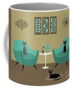Room With Dark Aqua Chairs 2 Coffee Mug