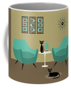 Room With Dark Aqua Chairs Coffee Mug