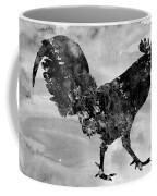 Rooster-black Coffee Mug