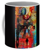 Rooster On The Door Whimsy Coffee Mug