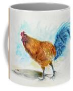 Rooster Watercolor Coffee Mug