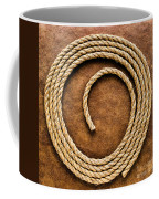 Rope On Leather Coffee Mug by Olivier Le Queinec