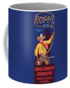 Roper Vintage Fruit Packing Crate Label Coffee Mug